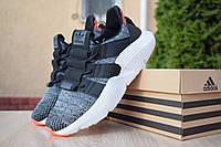 Кроссовки мужские Adidas Prophere текстиль молодежные стильные адидас серые с белой подошвой, ТОП-реплика