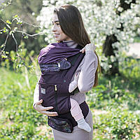 Эрго-рюкзак Love&Carry Air X Арт (Лав энд Керри) пурпурный/ бордовый