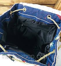 """Спортивный текстильный женский рюкзак """"Совушка"""" из плотного материала, на завязках, на 1 отдел, фото 3"""