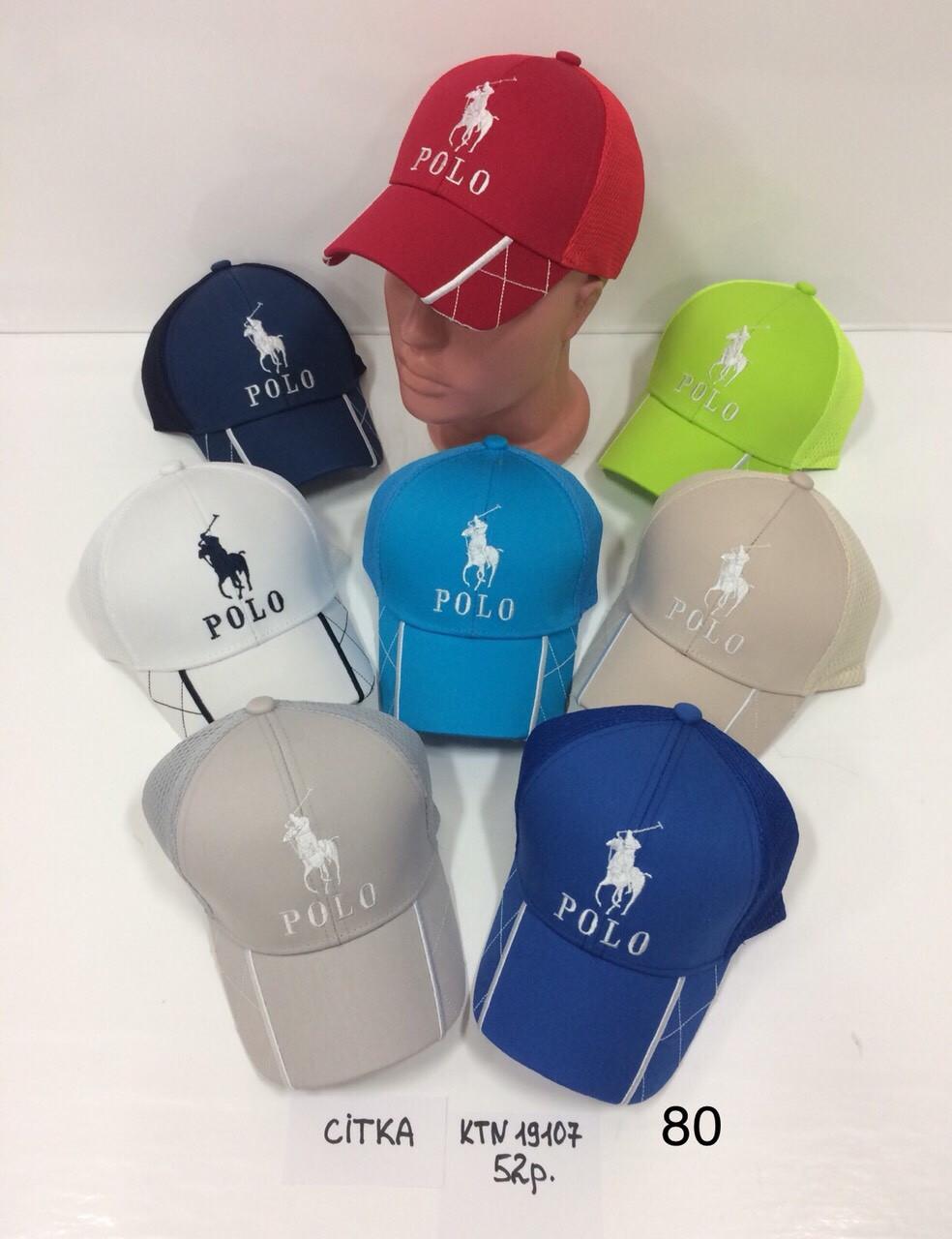 Деткая кепка  с сеткой для мальчика на лето Polo р.52