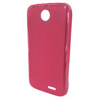 Силиконовая полупрозрачная накладка Lenovo A308t Розовый