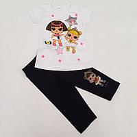 Костюм на девочку бриджи+футболка (5-8 лет) (110/116/122/128 рост), фото 1