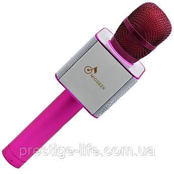 Караоке микрофон Q9 Розовый