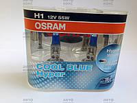 Лампа галогенная OSRAM 62150 CBH-DUO COOL BLUE HYPER H1 12V  55W  P14,5s (5000K).