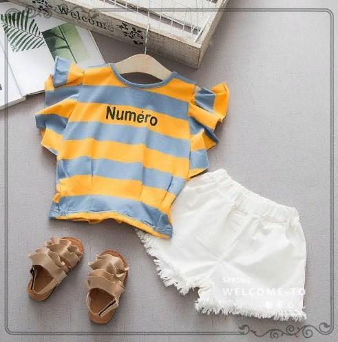 Комплект летний  Нумеро (оранж-сер) 80,100,110,120