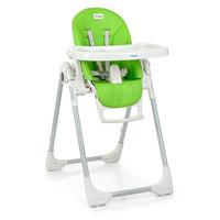 Стульчик ME 1038 PRIME Green Apple (1шт) для кормления,2колеса,рег.выс.и спинка,экокожа,зелен