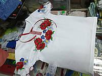 Футболка детская Вышиванка с коротким рукавом для девочки р.92 - 146