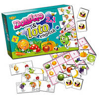 Настольная игра Английское домино+лото фрукты