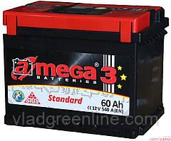 """Акумулятор Автомобільний 60 Ач A-Mega Standart (6СТ-60-Аз 540 А """"+"""" ліворуч) M3"""