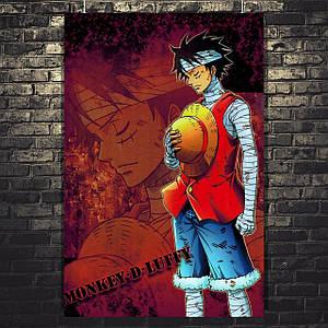 "Постер Monkey-D-Luffy. Аниме, манга ""One Piece. Большой куш"". Размер 60x40см (A2). Глянцевая бумага"