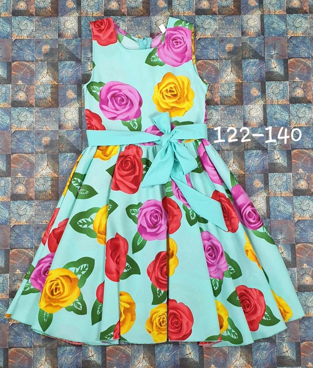 Детский  сарафан на лето для девочки Розы р. 122-140