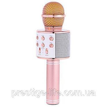 Беспроводной караоке микрофон WSTER 858 Розовый