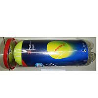 Теннисные мячи MS 1248 (40шт) 3шт, 6,5см, 1 сорт, 40% натур шерсть, трениров, в колбе,21-8-8см