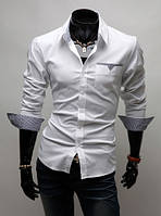 Стильная сорочка мужская М / 39-40 Белый