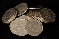 Великобритания 20 монет по 50 пенсов