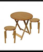 Комплект раскладной стол и две табуретки, фото 1