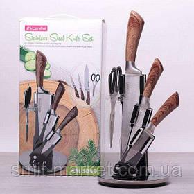 Набір 5 пр. кухонь.ножів і ножиць на акрил.подст (3нож.+ножиць.+подст) 5049