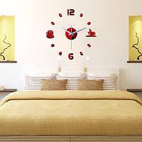 Часы настенные 3-d чашка кофе №2 красные