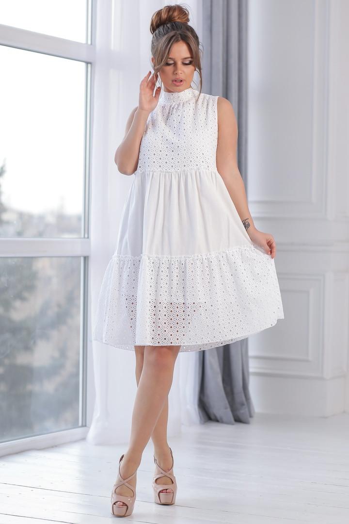 75159f4ba0f722a Женское летнее платье с оборками р. 42-48 - Magret женская и мужская одежда