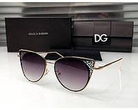 Брендовые женские солнцезащитные очки D&G (8800) black, фото 1
