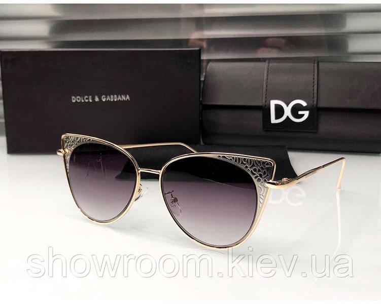 Брендовые женские солнцезащитные очки D&G (8800) beige