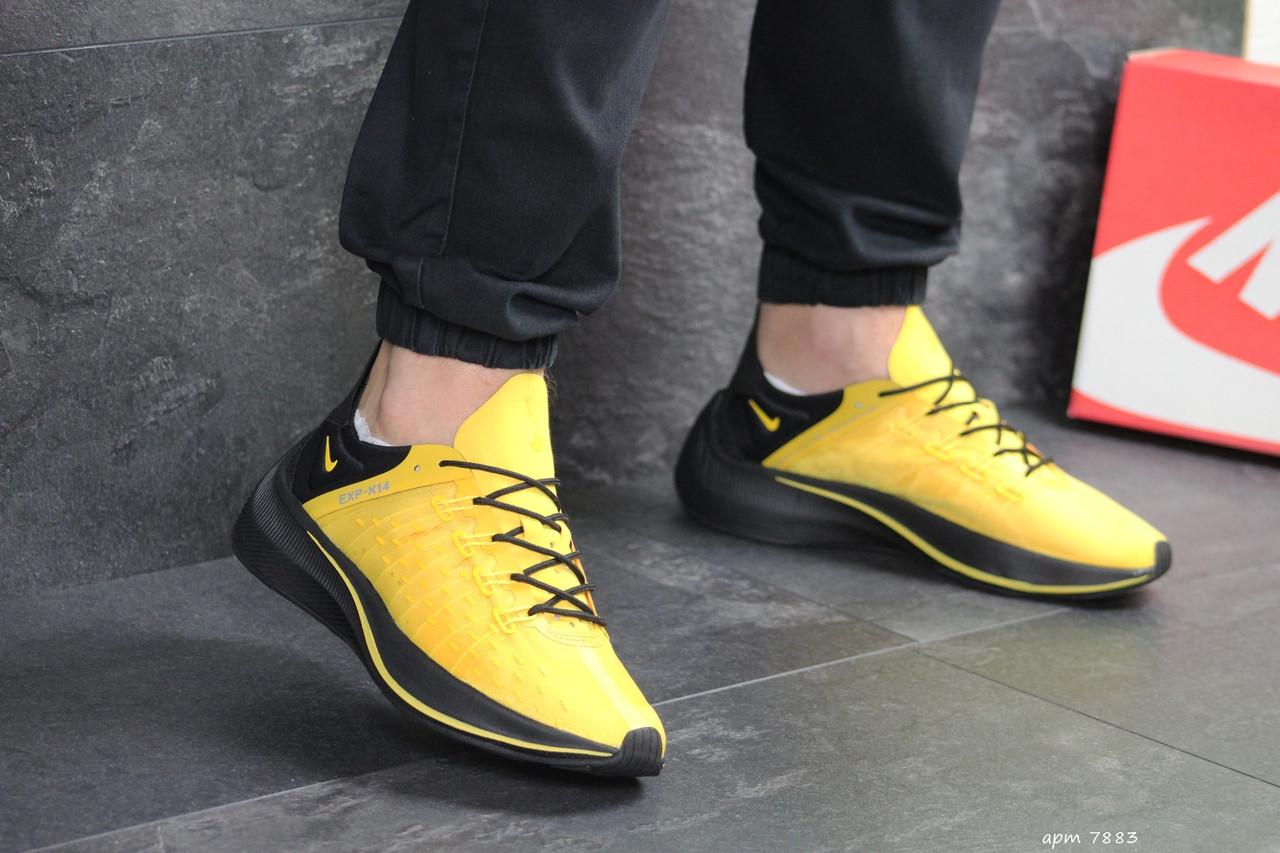 Мужские летние кроссовки Nike EXP-X14,текстильные,желтые