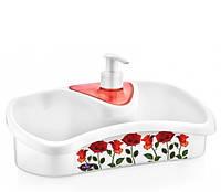 Дозатор для жидкого мыла кухонный (цвет красный ), фото 1