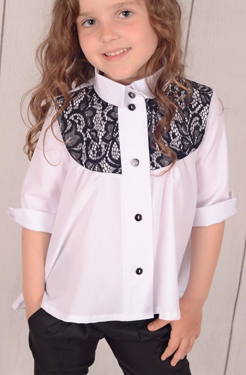 Дитяча блузка в школу для дівчинки р. 122-146