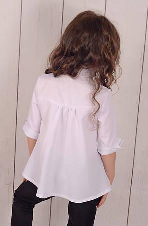 Дитяча блузка в школу для дівчинки р. 122-146, фото 2