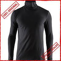 Термофутболка мужская Craft Essential Warm Turtleneck черная 1906589-999000