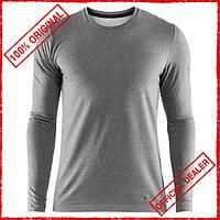 Термофутболка мужская Craft Essential Warm RN LS серая 1906588-975000
