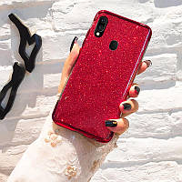 Чехол Shining для Samsung Galaxy A30 2019 / A305F Бампер блестящий Red