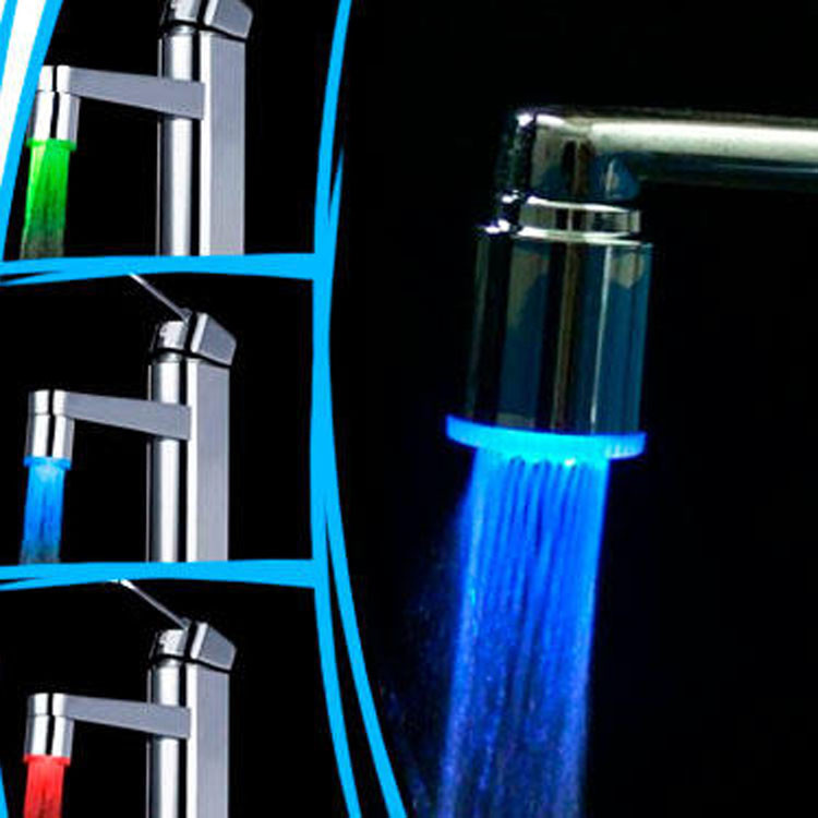 LED насадка на кран подсветка на кран 3 цвета Насадка с подсветкой на кран