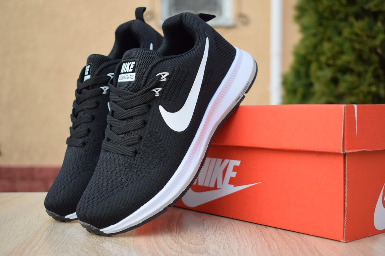 Кроссовки женские Nike ZOOM Pegasus весна сетка+пена качественные найки на каждый день (черные), ТОП-реплика
