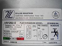 Бак розшир. плоск. 12 л. ZILIO  d=3|/4 (прямокутний оцинк.)