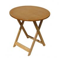 Дачный деревянный стол раскладной круглый