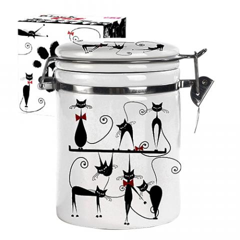 Ёмкость для сыпучих продуктов 1,2л S&T Черная кошка 631-12 S&T