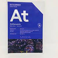 Тканевая маска для лица с эффектом лифтинга Sheet mask Anthocyanin Missha