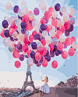 Картина по номерам без коробки. Воздушные шары.Париж