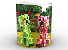 Кружка GeekLand Minecraft Майнкрафт криперы MС.02.006
