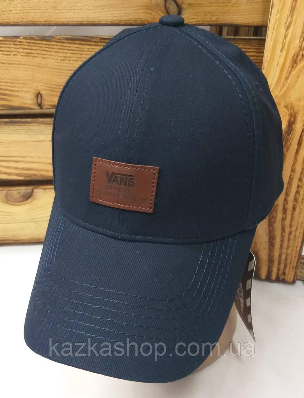 Стильная мужская котоновая кепка, бейсболка, нашивка логотипа Vans,  размер 58, на регуляторе