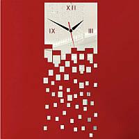 3-D часы матрица квадратики зеркальные.