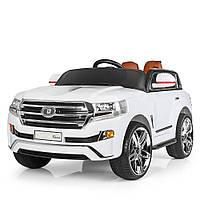 Детский электромобиль Тойота Ленд Крузер 200 белый, Toyota Land Cruiser 200, M 3984 EBLR-1, колеса EVA, USB.