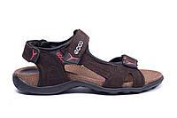 Мужские кожаные сандалии Ecco Active Drive (реплика), фото 1
