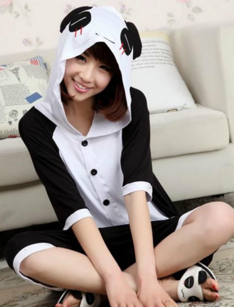 Кигуруми панда на лето для взрослых и детей krd0094
