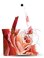 Сумка для пляжа с принтом роза.