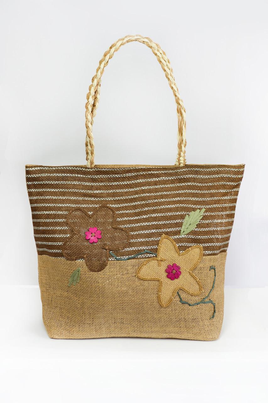 2782bafe6ef4 Пляжные сумки Famo Пляжная сумка Паттайя коричневая 45х11 см - 135451