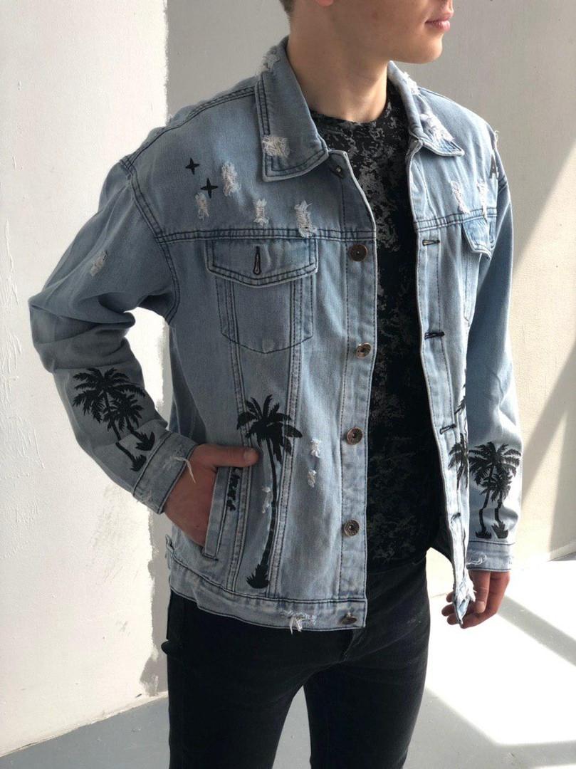 Мужская джинсовка (Пальма), синяя джинсовая куртка