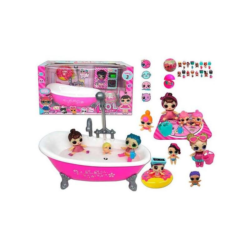 Набор с куклами ТМ 923 Ванна, куклы, в коробке