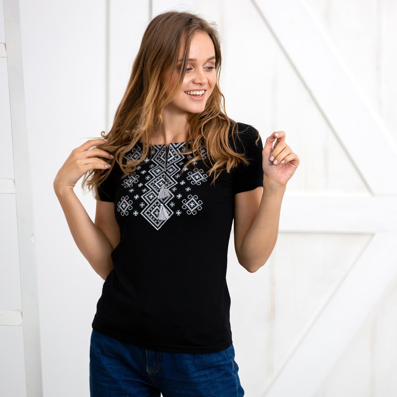 Ромби жіноча футболка вишиванка
